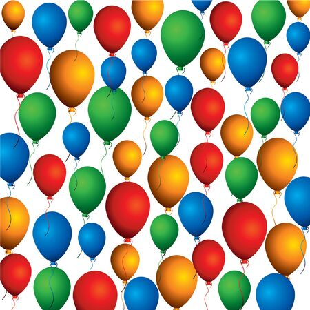 colorful balloon background pattern Stock Vector - 16845740