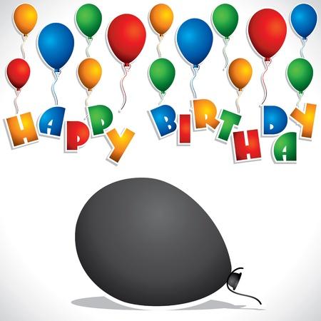 colorful balloon birthday greeting card stock vector Stock Vector - 16845738