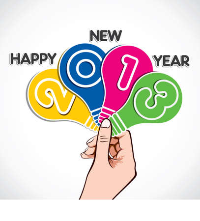 colorful happy new year 2013 stock vector Vector
