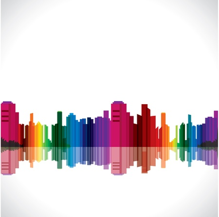 abstract colorful city stock vector