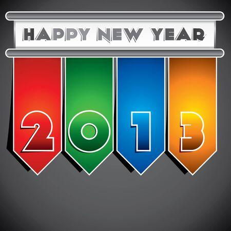 creative design of 2013 happy new year stock vector Stock Vector - 16845734