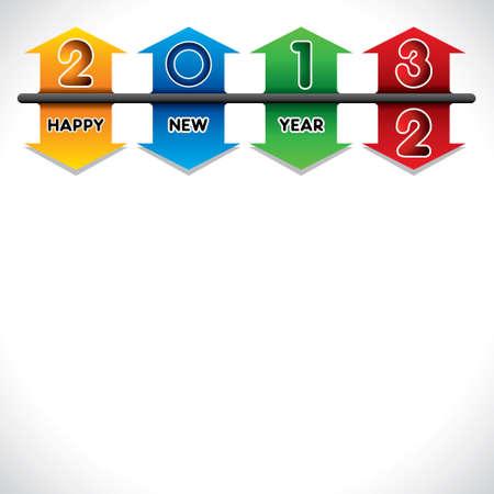creative design of 2013 happy new year stock vector Stock Vector - 16845732