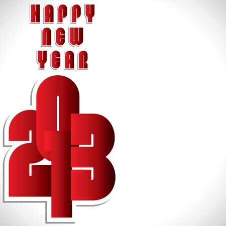 red happy new year 2013 stock vector Stock Vector - 16845747