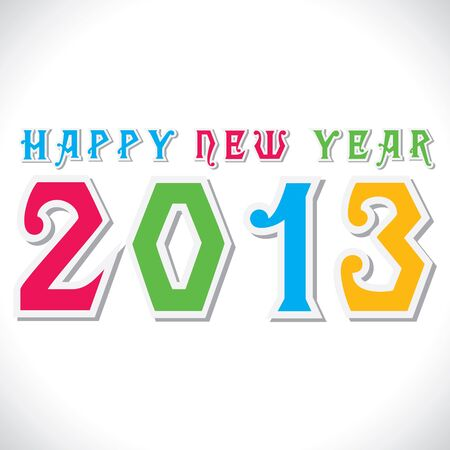colorful happy new year 2013 stock vector Stock Vector - 16845731