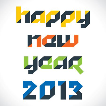 happy new year 2013 stock vector Stock Vector - 16845714