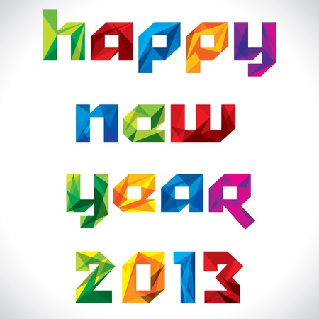 creative and stylish happy new year 2013 greeting  Vector