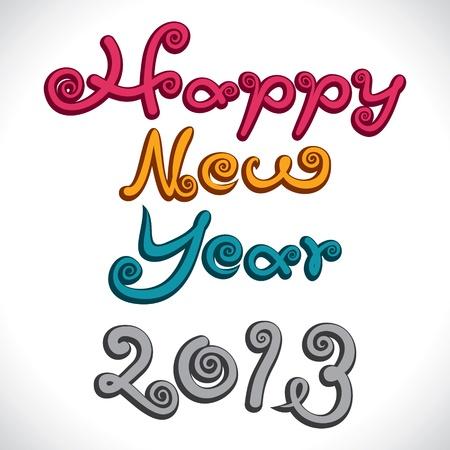 new year 2013 stock vector Stock Vector - 16845730