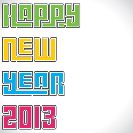 colorful happy new year 2013 stock vector Stock Vector - 16845729