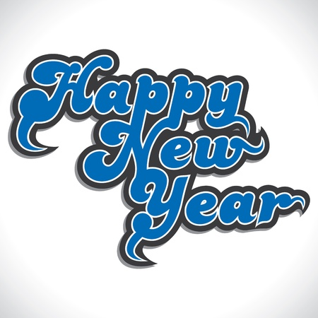 happy new year stock vector Stock Vector - 16845728