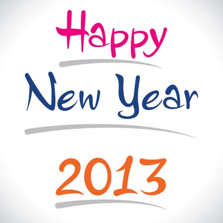 stroke of luck: happy new year 2013 stock vector Illustration