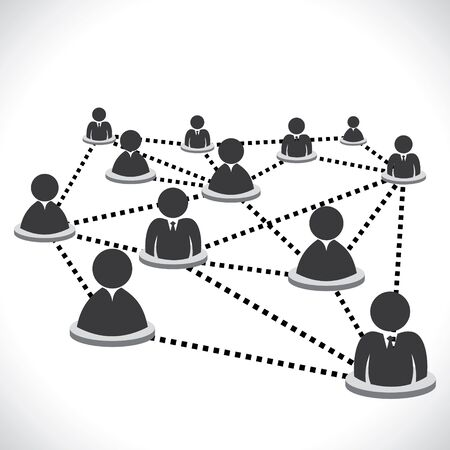 people connection newtwork stock vector Stock Vector - 16845772