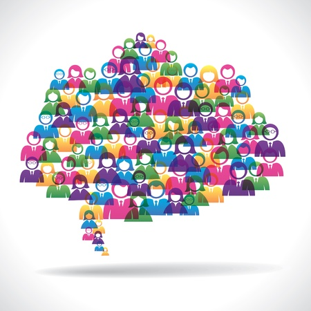 creative group of people message bubble stock vector Stock Vector - 16845830