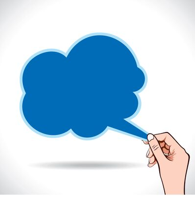 cloud shape message bubble in hand Stock Vector - 16845781