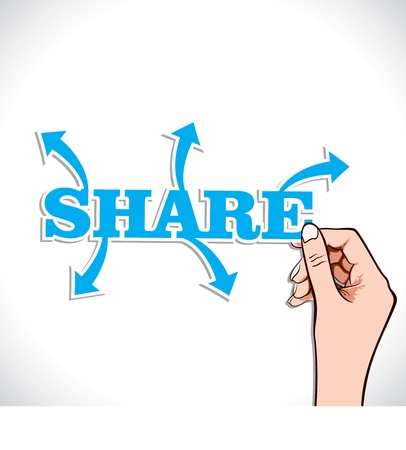 share any thing in world stock vector Vector