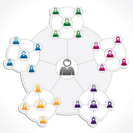 global networking: pueblo conexi�n newtwork vector stock