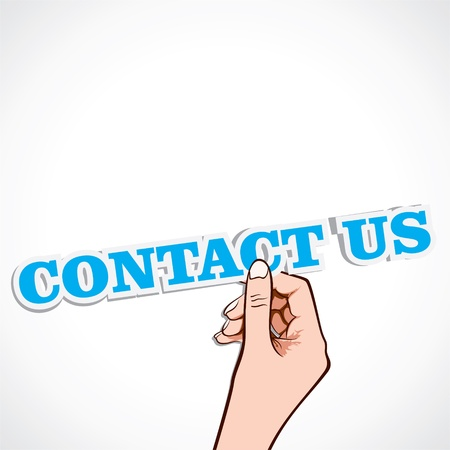contact us word in ahnd stock vector Stock Vector - 16901469