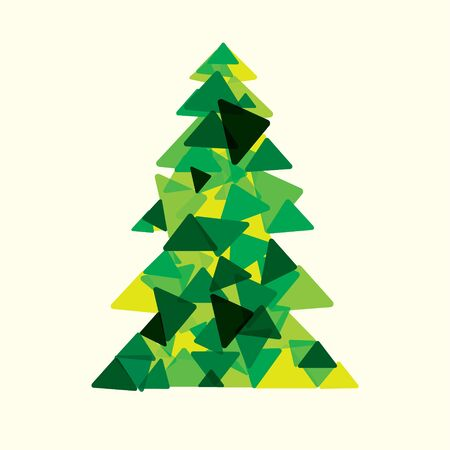 snippet: green christmas tree stock vector