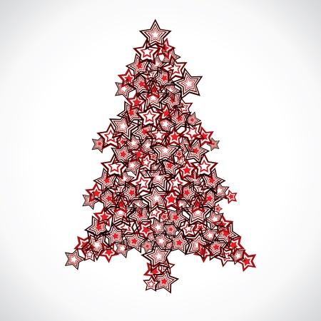 star christmas tree stock vector Stock Vector - 16902211