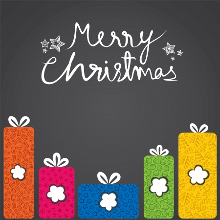 merry christmas gift box with different shape stock vector Vector