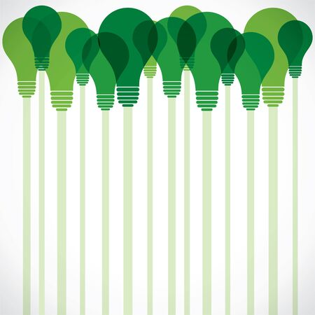 green bulb stock background Stock Vector - 16904560