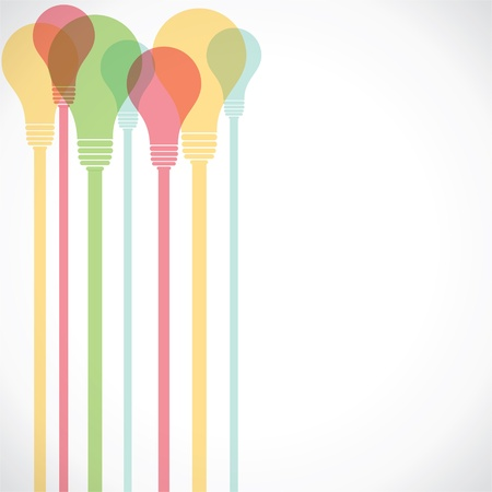 creative solutions: colorful bulb stock  Illustration