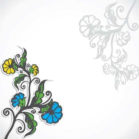 creative retro flower stock  Stock Vector - 16904553