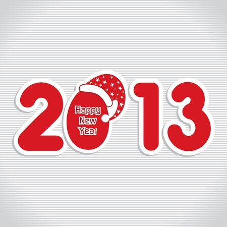 New Year Greeting,2013 Stock Vector - 17226606