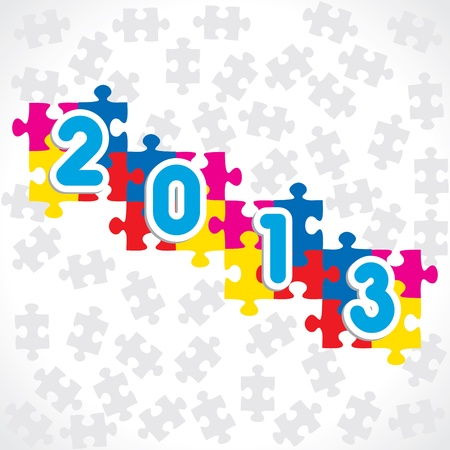 New Year Greeting,2013 Vector