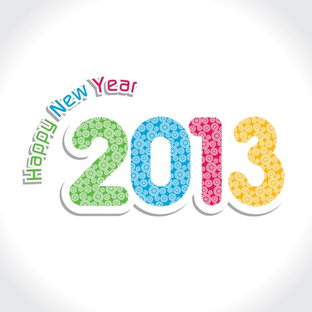 New Year Greeting,2013 Stock Vector - 17226627