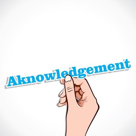 rewarded: Reconocimiento palabra en la mano stock vector