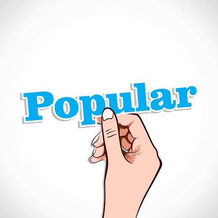 Popular word in hand stock vector Stock Vector - 17791028