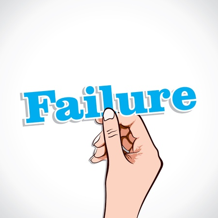 arbalest: Failure word in hand stock vector