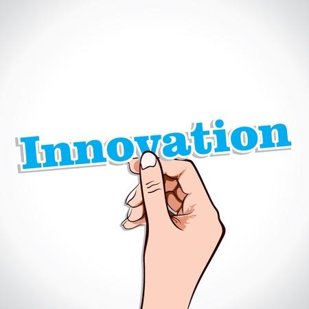 Innovation word in hand stock vector Stock Vector - 17776241