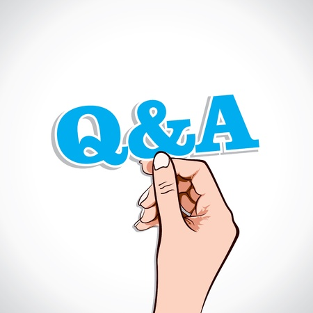 Q A Word In Hand Stock Vector Stock Vector - 17218926