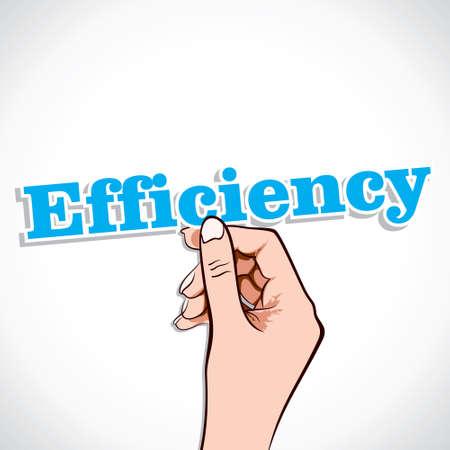 amend: Efficiency Word In Hand Stock Vector