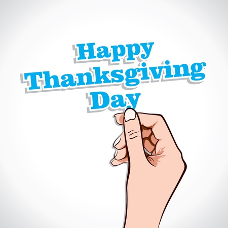 Happy Thanksgiving Day Word In Hand Stock Vector Vector