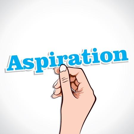aspirace: Aspirace Word v ruce Vybrat Ilustrace