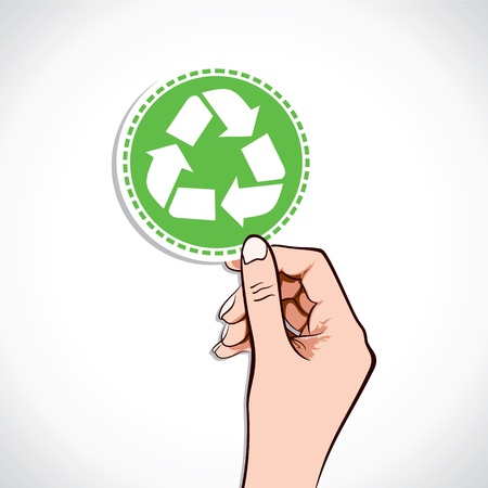Recycle Bin Icon In Hand Stock Vector Stock Vector - 17218919