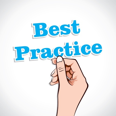 Best practice Word In Hand Stock Vector Stock Vector - 17219017