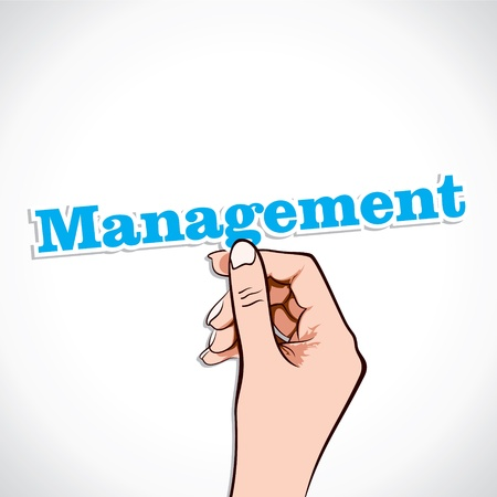 charismatic: Management Word In Hand Stock Vector