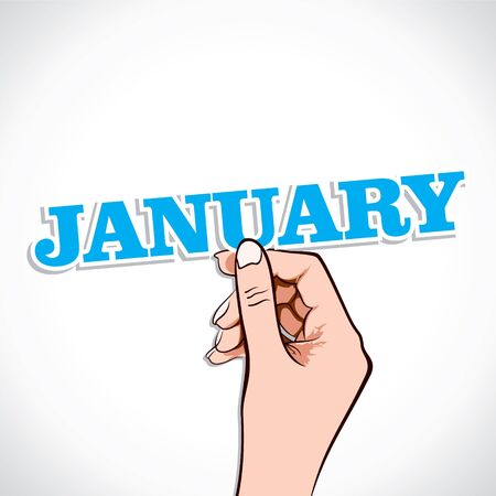 January Word In Hand Stock Vector Stock Vector - 17218961