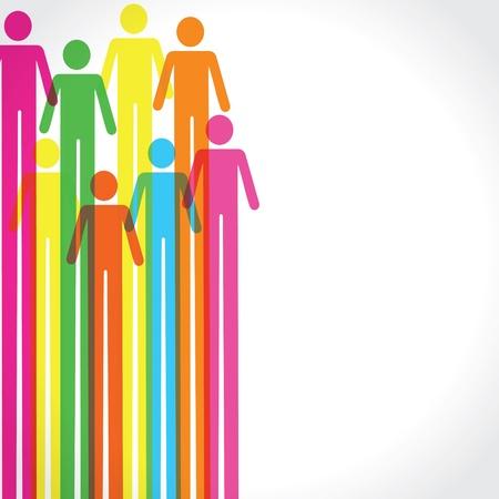 man vrouw symbool: Kleurrijke mens pictogram achtergrond stock vector Stock Illustratie