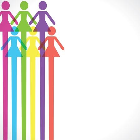 bathroom design:  Colorful woman icon background stock vector