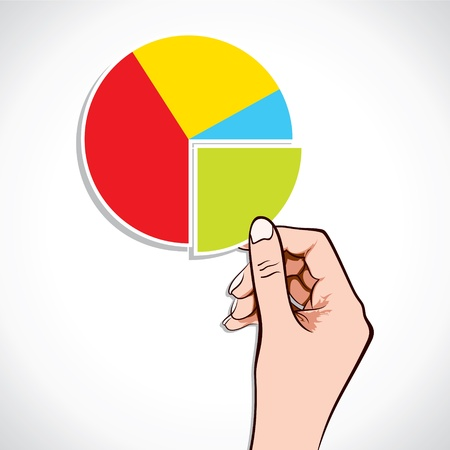 Business Graph in hand stock vector Stock Vector - 17218335
