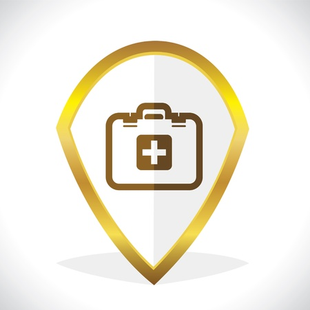first aid kit: First -Aid Kit Icon Design Stock Vector