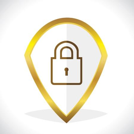 forbidden to pass: Lock Icon Design Stock Vector Illustration