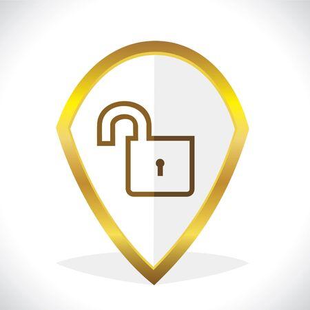 Unlock Icon Design Stock Vector Stock Vector - 17216224