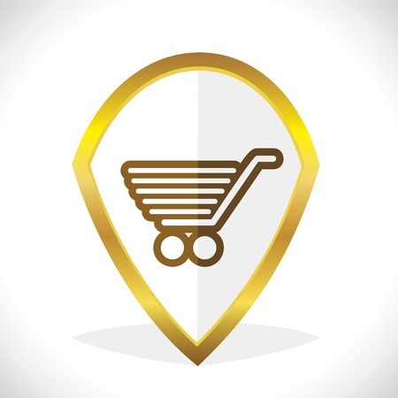 Shopping Cart Icon Design Stock Vector Stock Vector - 17216238