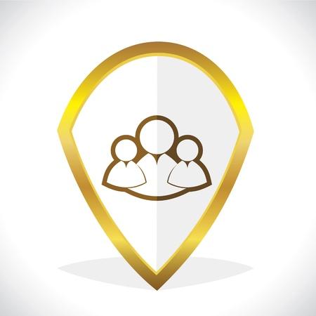 matrimonial: Multi-User Chat Icon Design Stock Vector