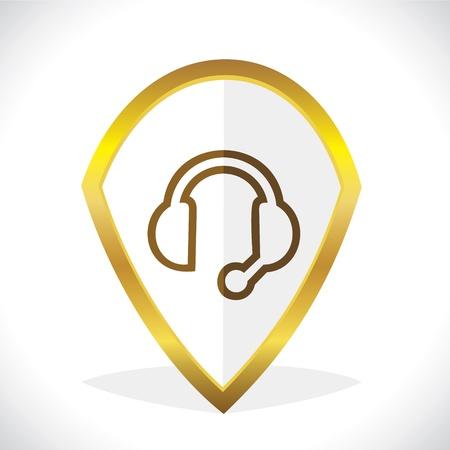 Headphone  Microphone Icon Design Stock Vector Stock Vector - 17216227